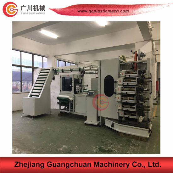 Guangchuan Brand Six Color Curved Cup Printing Machine