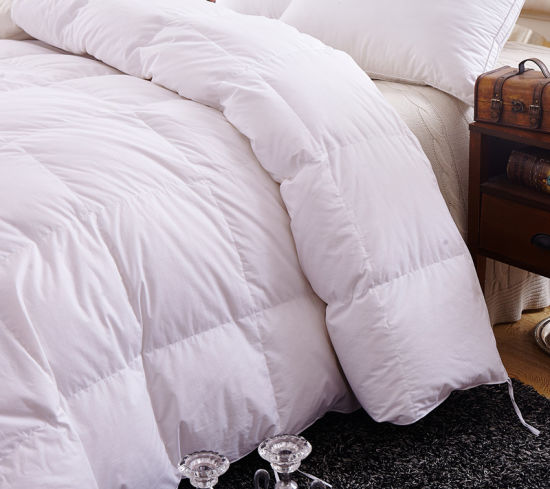 Home Textile 233tc 75% White Duck Down Bedding Comforter pictures & photos