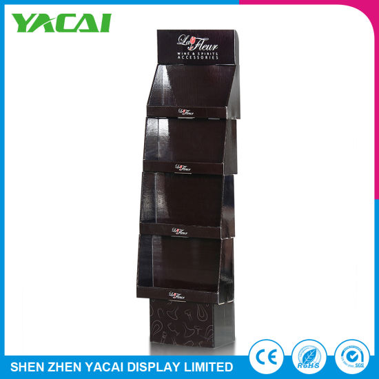 Wholesale Connect Acrylic Cardboard Floor Display Stand for Stores pictures & photos