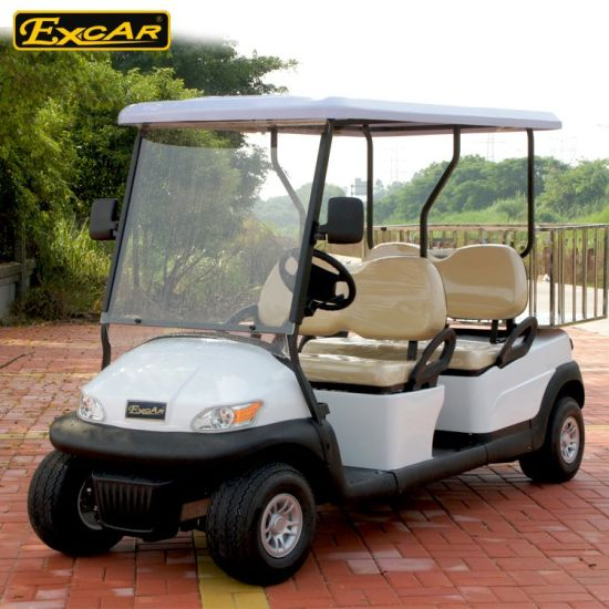 China Excar 4 Seats Electric Golf Cart with Iron Frame - China Golf ...