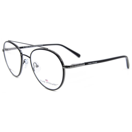 6de03c01c0 Silicone Nose Pad Glasses Frames Eyewear Classic Double Bridge Metal  Optical Frames