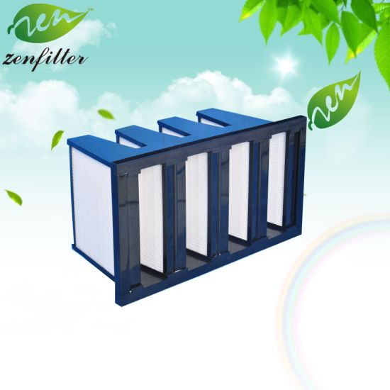 Compact Air Filter and Polyurethane Frame Filter Ultra Fine Glass Fiber for Air Cleaning