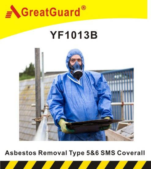 Disposable Type5&6 SMS Coverall for Asbestos Removal (YF1013B)