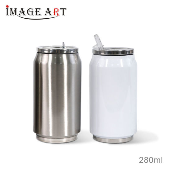 280ml Sublimation Double Wall Vacuum Cola Can Shaped Water Bottle