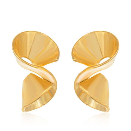 Gold Plated Simple Design Gold Earring Stud Earrings for Women