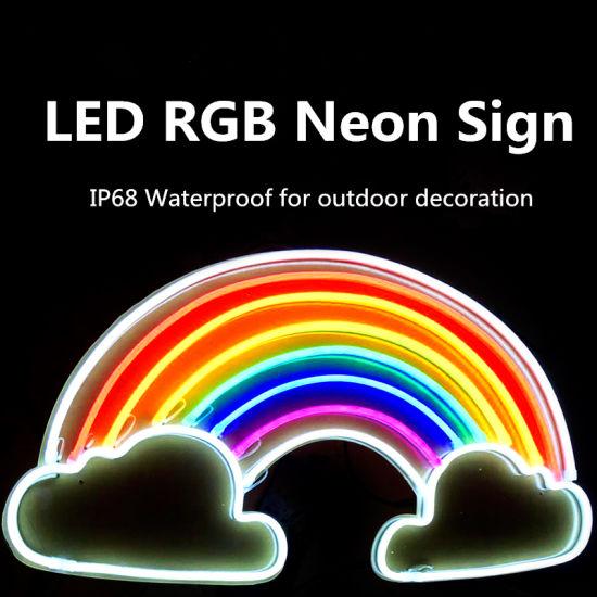 china ip68 full waterproof led neon rope light for logo signature