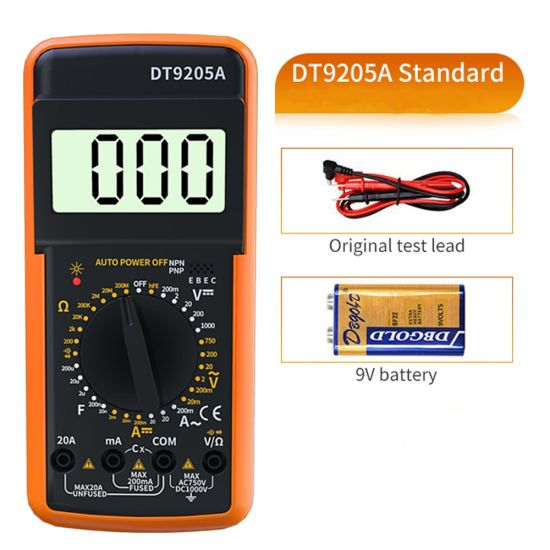 Built-in Anti-Burning Insurance Digital Smart Multimeter for Sale with Power Saving Mode and More Battery Life