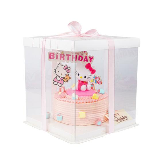 Factory Direct Sale Custom Luxury Pet Clear Cake Foldable Plastic Box