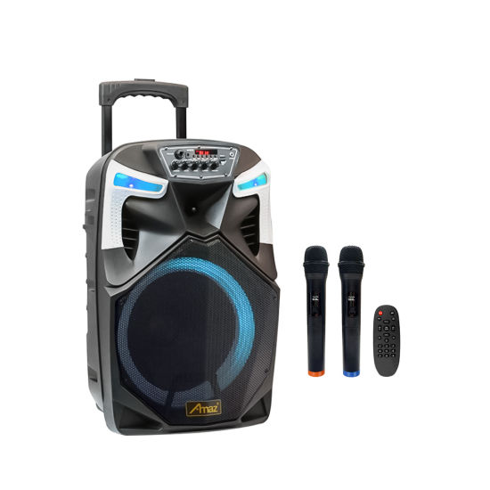 OEM 12 Inch Trolley Speaker Blue Tooth Active Outdoor Speaker Rechargeable Portable Party Speaker
