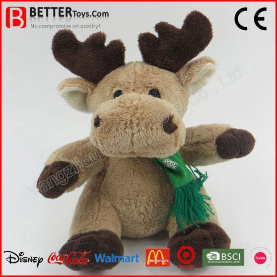 Christmas Gift Stuffed Reindeer Doll Soft Plush Toy for Children Kids