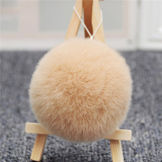 Best Price of Rabbit Fur Ball Keychain with Good Service pictures & photos