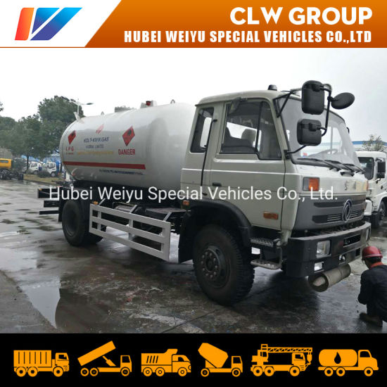 7tons 8tons 15cbm LPG Bobtail Truck Dongfeng Cooking Gas Cylinder Refueling Truck
