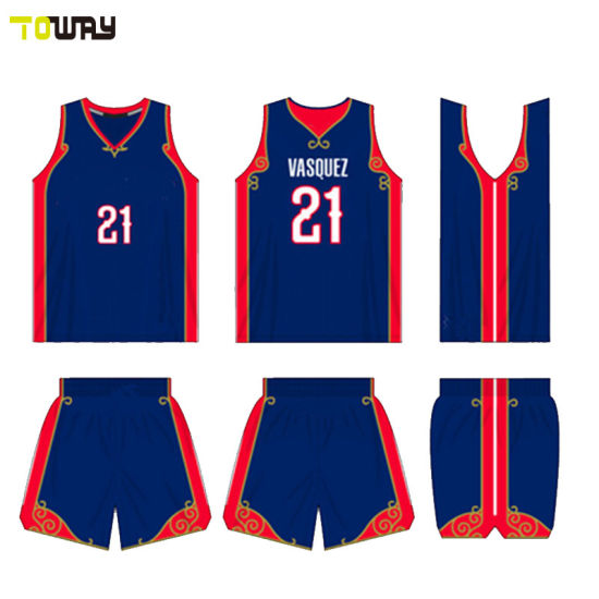 8648fe4aa65a Sportswear Full Dye Sublimation Thunder Eco-Friendly Basketball Jersey