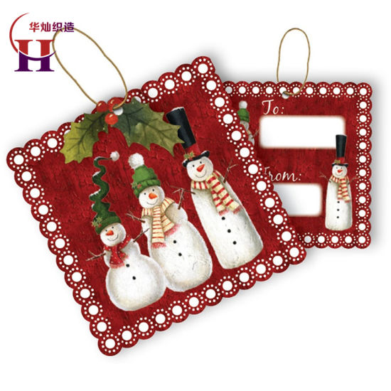 Customized Delicate Christmas Gift Hang Tags