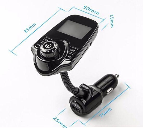 Shenzhen 5V 2.1A Wireless T10 Bluetooth Handsfree FM Transmitter T10 Car FM Transmitter