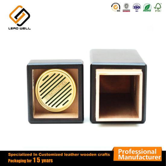 Vertical Design Humidor Packaging Cigar Gift Box Matte Mahogany