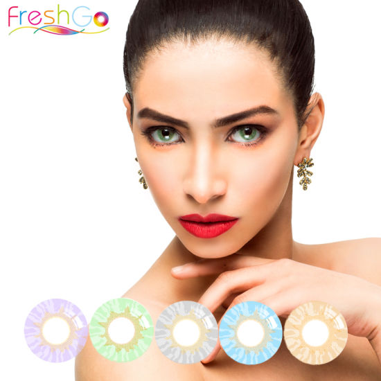 6368a74dfc5 China Wholesale Freshgo Lily Violet Colored Contacts for Big Eye ...
