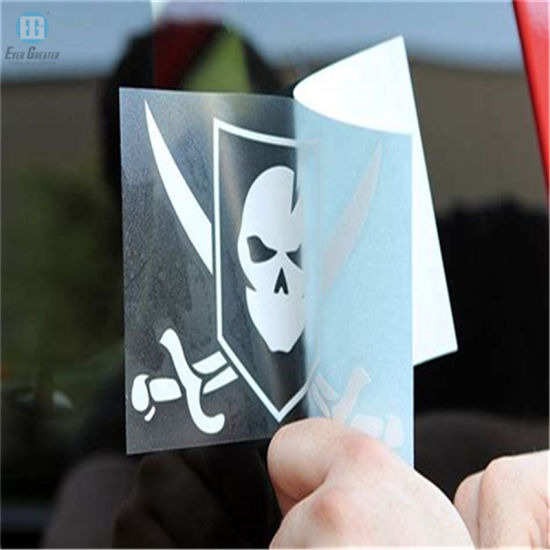 White Customized Cut Vinyl Stickers For Car Window