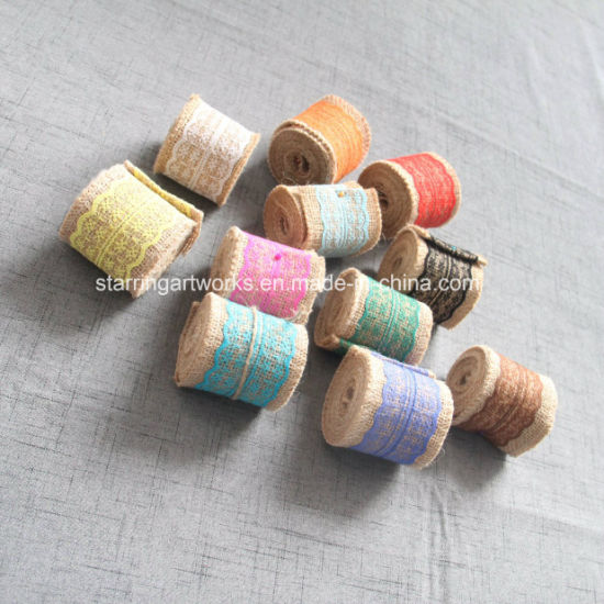 2018 New Products Jute Ribbon with Mesh in Various Color