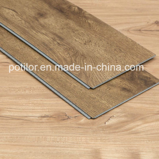 Walnut Click PVC Flooring Plank / UV Coating Wood Patterns Vinyl Plank pictures & photos