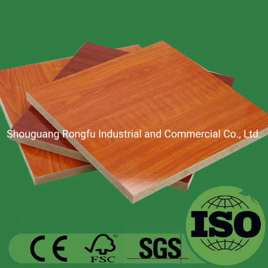 Natural Veneer Melamine Laminated MDF with Fashion Colors for Building Materials and Furniture Cabinet