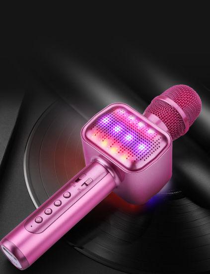 Magic Karaoke Player with LED Lights Wireless Karaoke Microphone for Singing