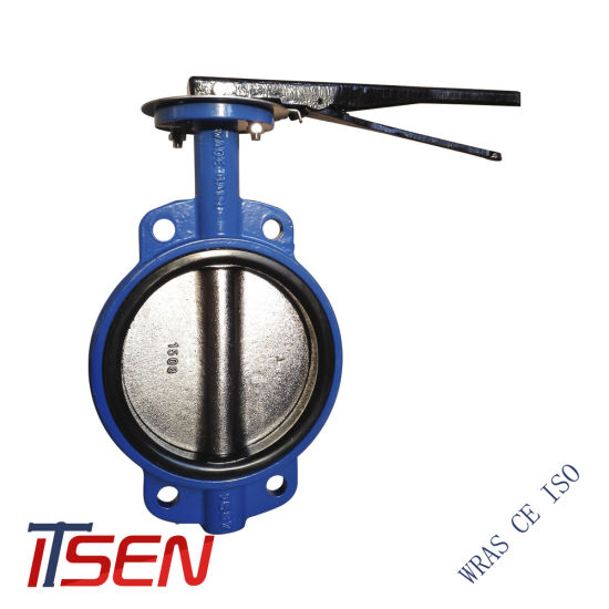 Wafer Type Lever Opreated Butterfly Valve with Aluminum Handle / Malleable Iron Handle