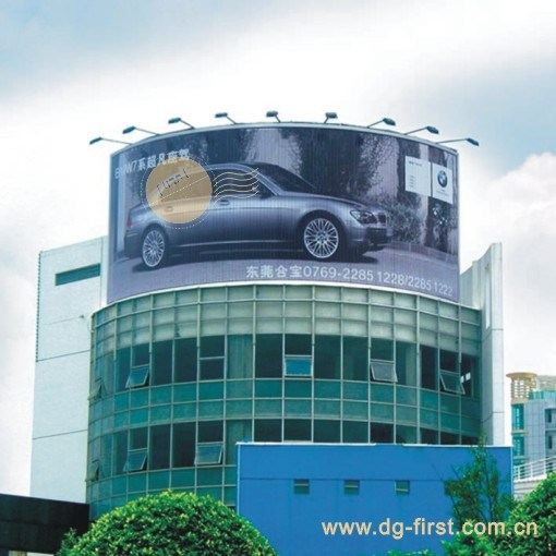 Large Size Rooftop Curved Rotating Advertising Trivision Billboard