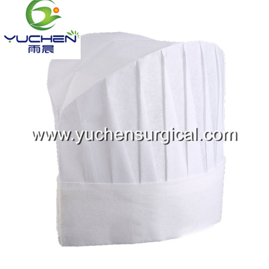 Disposable Non Woven/Customized Material Chef Hats for Cooking Kitchen Equipment