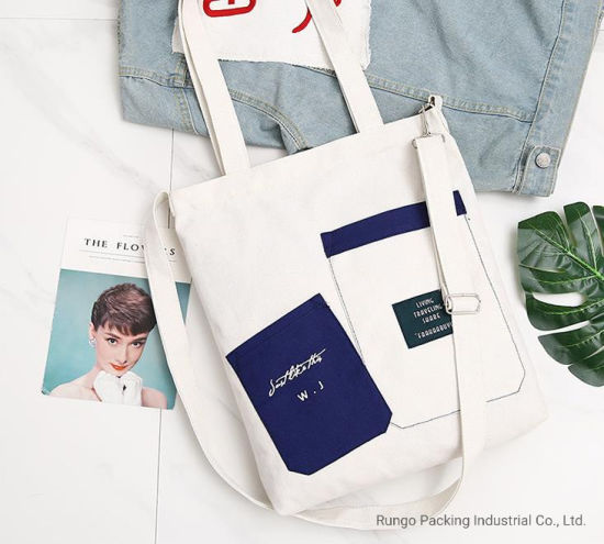 2020 Hot Sale Fashionable Cotton Canvas Tote Backpack Bag