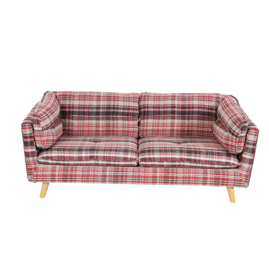 Two Color Fabric Living Room Sofa for 3 Seater (XD-459)