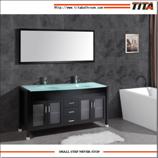 2016 Single Sink Solid Wood Bathroom Cabinet T9145 pictures & photos