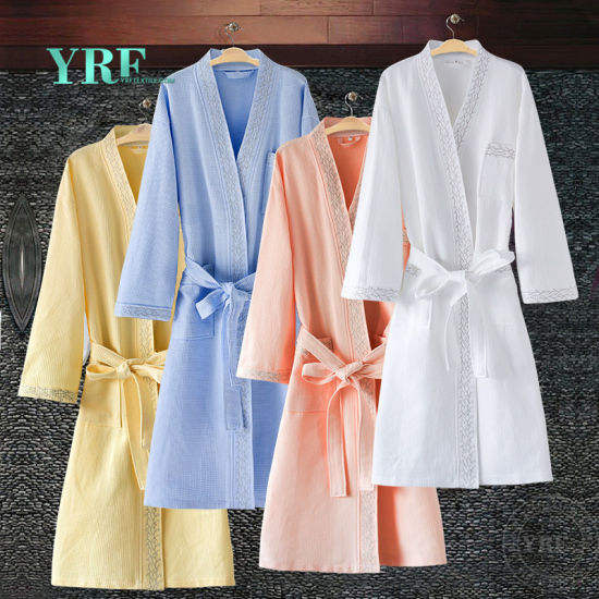 Guangzhou Foshan 100% Cotton White Waffle Velourterry Hotel Bathrobe for Yrf