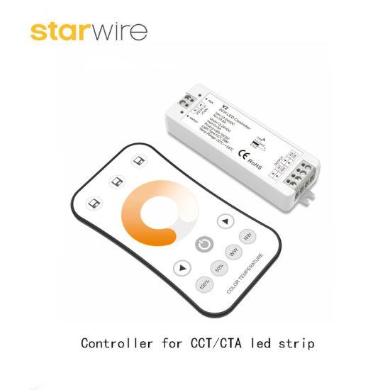 huge discount 94d65 754a4 DC 12V/24V RF Wireless Remote RGB CCT LED Controller