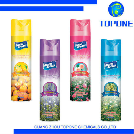2021 Hot Sale Canned Air Freshener Rose Scented Air Breath Freshener Spray Fresh Air Spray OEM Free Sample