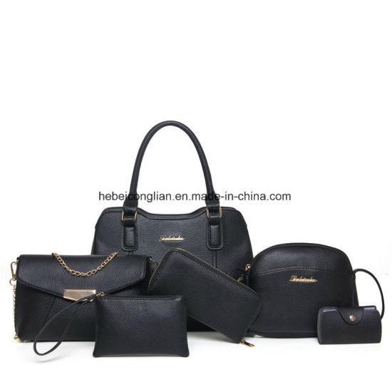 da8bd25703a5 Wholesale Latest PU Leather Women Bag Sets 6PCS Set Handbags Satchel Bags