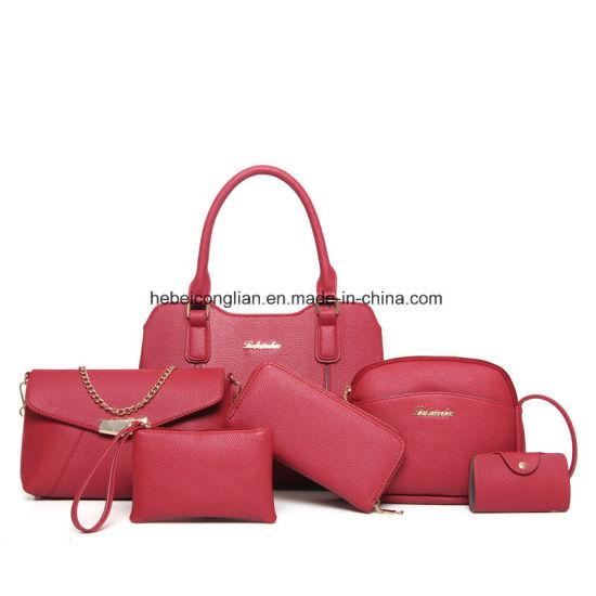 Wholesale Latest PU Leather Women Bag Sets 6PCS Set Handbags Satchel Bags 364d38e4a908d