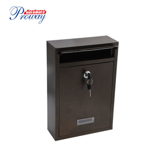 Wall Mount Lockable Mailbox Outdoor Galvanized Metal Key Large Capacity Parcel Drop Box Pictures Photos
