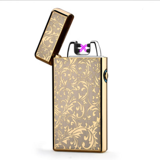 Top Quality X Metal Electronic Double Arc Lighter USB Charged Lighter pictures & photos