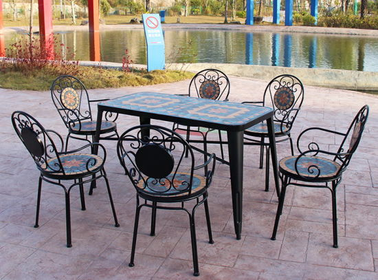 [Hot Item] Country Style Mosaic Dining Table Garden Furniture