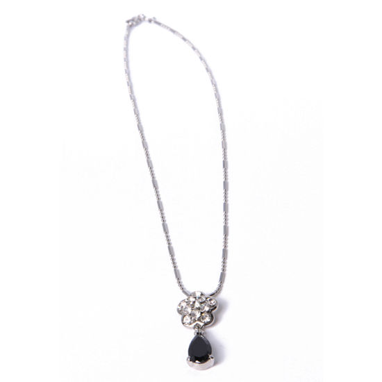 2018 Fashion Jewelry Alloy Pendant Necklace with Black Stone