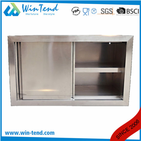 China Good Quality Stainless Steel Work Table Kitchen Wall Mount Cabinet China Kitchen Equipment Cabinet Wall Mount Cabinet