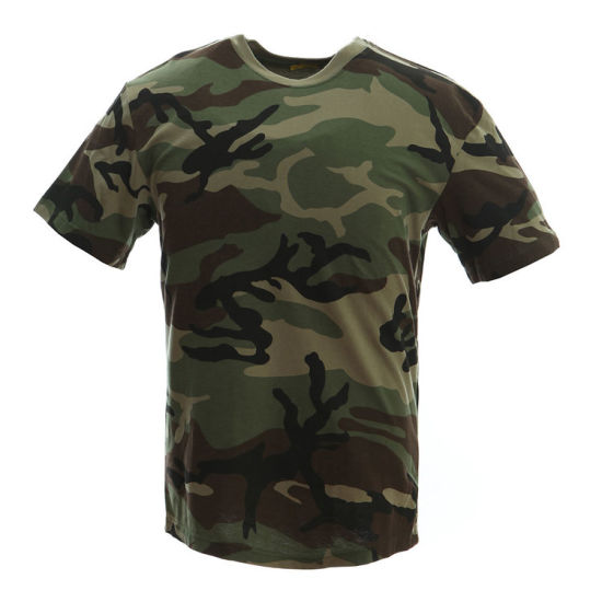 ae43cdae China 100% Cotton Military Army Tactical Combat Camouflage T-Shirts ...