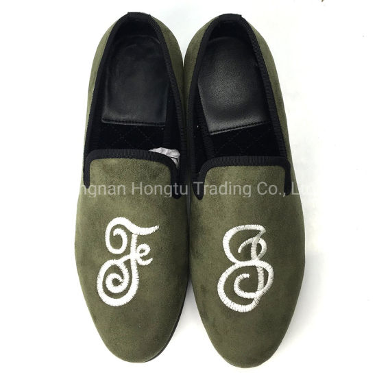 Loafers Men Velvet Shoes Mens Smoking Slippers