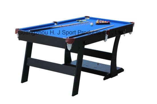 Factory Sale 5ft 6ft Foldable Snooker Table Blue Felt Folding Pool Table Billiard