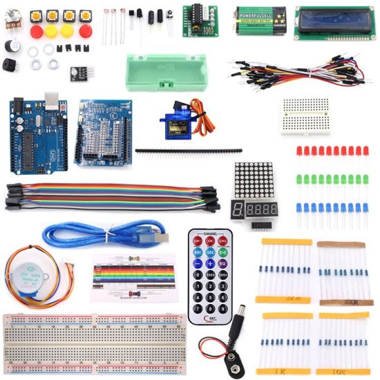 Factory Direct and Customizable Basic Uno R3 Starter Learning Kit for Arduino with Tutorial