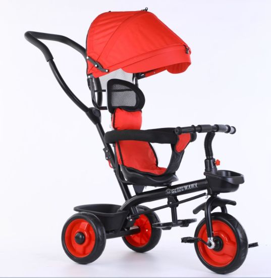 2021 New Fashionable 4 in 1 Baby Stroller Tricycle Kids Push Tricycle