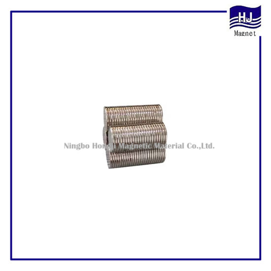 Thin Sheet Wafer Cylindrial Neodymium Magnet NdFeB with Customized N35-N52