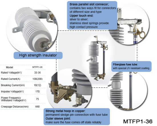 Mtfp1-36 Nice Quality 36kv 100 AMP Thermal Drop out Cutout Fuse on audio amp wiring, car audio capacitor wiring, point to point wiring, speaker wiring, tube speakers, usb wiring, tube radio, car stereo wiring,