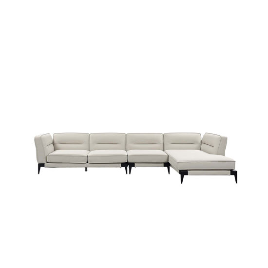 Admirable French Contemporary L Shape Sectional White Elegant Fabric Tufted Sofa Set Evergreenethics Interior Chair Design Evergreenethicsorg